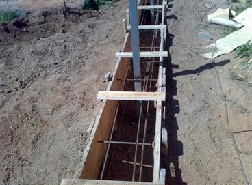 заливка забора бетоном