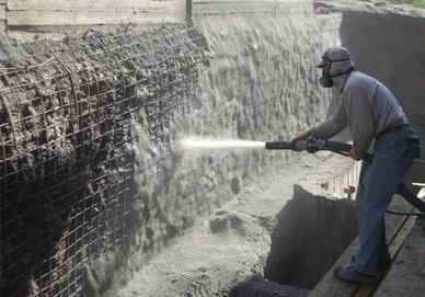торкретировании бетона