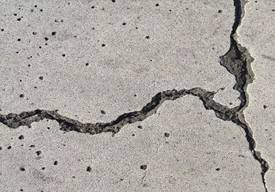 трещинки на бетоне