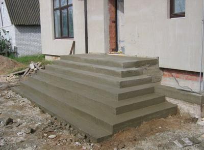 Ступеньки из бетона купить бетон в раменском районе недорого